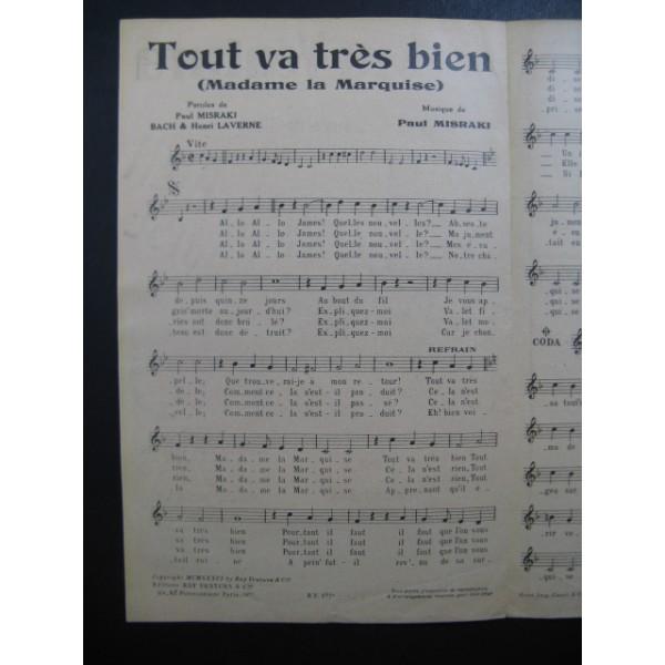 partition musique tout va tres bien madame la marquise