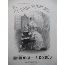 COEDÈS A. Si vous m'aimez Chant Piano 1872