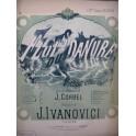 IVANOVICI J. Flots du Danube Piano Violon ou Mandoline XIXe