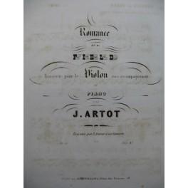 ARTOT J. Romance de Field Violon Piano 1853