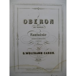 WOLFRAMM-CARON G. Obéron Piano XIXe siècle