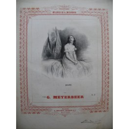 MEYERBEER G. Délire Chant Piano 1848
