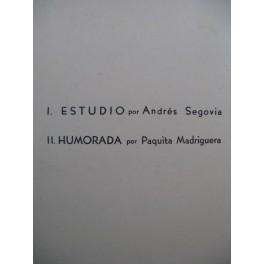 SEGOVIA Estudio MADRIGUERA Humorada Guitare