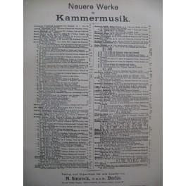 DVORAK Anton Dumky Trio Piano Violon Violoncelle 1894