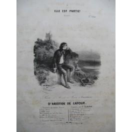 DE LATOUR Aristide Elle est partie Chant Piano ca1840