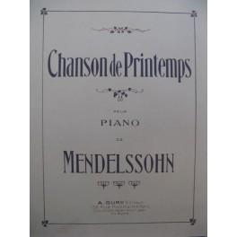 MENDELSSOHN Chanson de Printemps Piano XIXe siècle