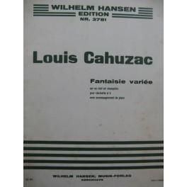 CAHUZAC Louis Fantaisie Variée Clarinette Piano 1947
