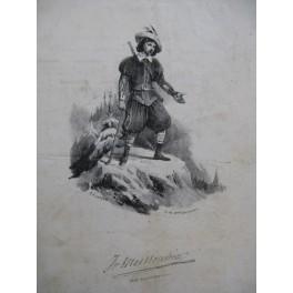 DE BEAUPLAN Amédée Le Retour du Montagnard Chant Guitare ca1830