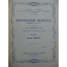 MÉRIOT Michel Anthologie Musicale 12 Mélodies Chant Piano 1983