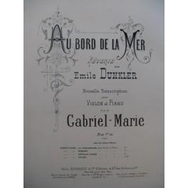 DUNKLER Emile Au bord de la Mer Rêverie Violon Piano 1889