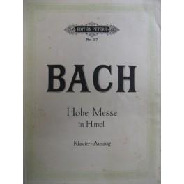 BACH Jean Sébastien Hohe Messe in H moll