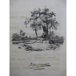 PANSERON Auguste J'étais Heureux Chant Guitare ca1830