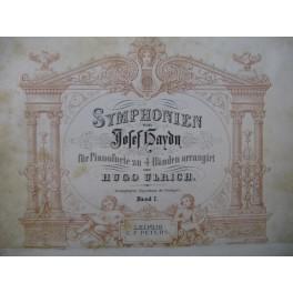 HAYDN Joseph Symphonien Symphonies Piano 4 mains XIXe