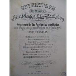 MENDELSSOHN Melusine Ouverture Piano 4 mains Violon Violoncelle ca1875