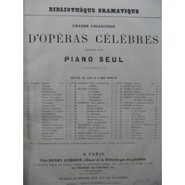 ADAM Adolphe Le Chalet Opéra Piano solo ca1870