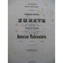 RUBINSTEIN Antoine Sonate No 1 op 13 Violon Piano ca1877