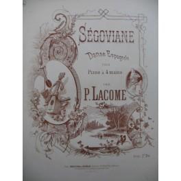 LACOME Paul Segoviane Danse Espagnole Piano 4 mains 1887