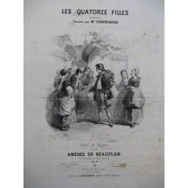 DE BEAUPLAN Amédée Les Quatorze Filles Chant Piano ca1830