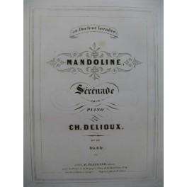 DELIOUX Ch. Mandoline Piano 1854