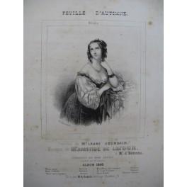 DE LATOUR Aristide Feuille d'Automne Mélodie Chant Piano ca1830