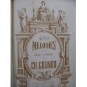 GOUNOD Charles 20 Mélodies 6 Cantiques Chant Piano ou Orgue XIXe