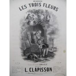 CLAPISSON Louis Les Trois Fleurs Chant Piano ca1840