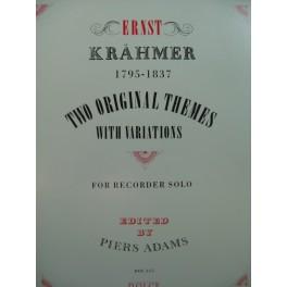 KRÄHMER Ernst Two Original Themes op 24 Flute à Bec solo 1993