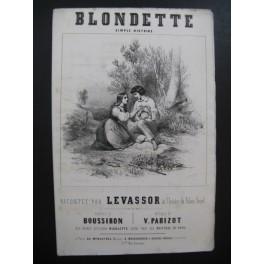 PARIZOT Victor Blondette Levassor Chant Guitare ca1840