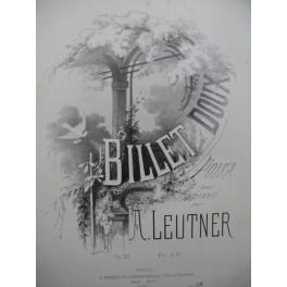 LEUTNER A. Billet Doux Piano ca 1865