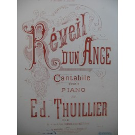 THUILLIER Ed. Réveil d'un Ange Piano XIXe siècle