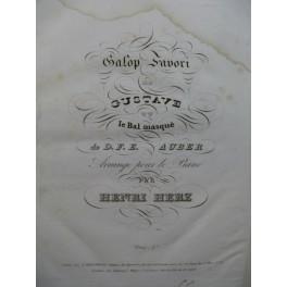 HERZ Henri Galop Favori Piano ca 1835