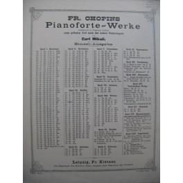 CHOPIN F. Etude Piano XIXe siècle