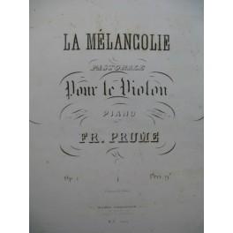 PRUME Fr. La Mélancolie Pastorale Violon Piano ca1840