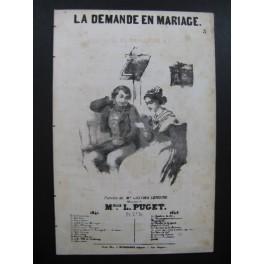 PUGET Loïsa La Demande en Mariage Chant Guitare 1842
