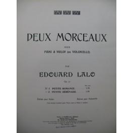 LALO Edouard Petite Romance Violon Piano