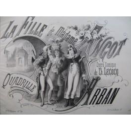 ARBAN La Fille de Madame Angot Quadrille Piano 4 mains ca1873