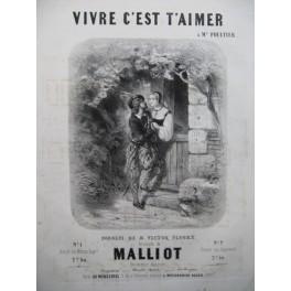 MALLIOT Vivre c'est t'aimer Piano Chant ca1850