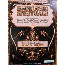 Famous Negro Spirituals 25 pièces Chant Piano
