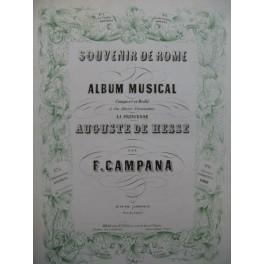 CAMPANA F. Souvenir de Rome No 1 Veglia Chant Piano XIXe