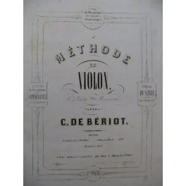 BÉRIOT Charles de Méthode de Violon 2ème Partie ca1870