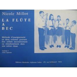 MILLOT Nicole La Flûte à Bec Méthode 1970