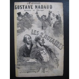 NADAUD Gustave Les 2 Notaires CHAM Chant Guitare ca1850