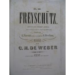 WEBER Le Freischütz Opéra Chant Piano ca1860