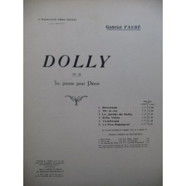 FAURÉ Gabriel Dolly Piano 4 mains 1928