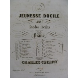 CZERNY Charles La Ci Darem La Mano op 721 Piano ca1845