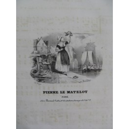 GOMION L. Pierre le Matelot Chant Piano ca1830