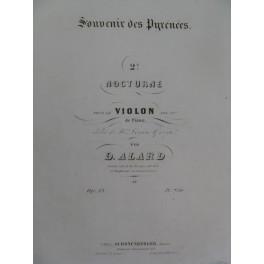 ALARD Delphin Souvenir des Pyrénées 2e Nocturne Violon Piano ca1850