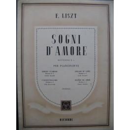 LISZT F. Sogni d'Amore Piano 1950