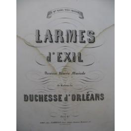 DUCHESSE D'ORLEANS Larmes d'Exil Piano ca1860