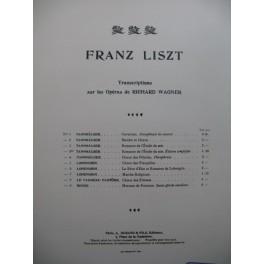 LISZT Franz Choeur de Fileuses Wagner Piano XIXe
